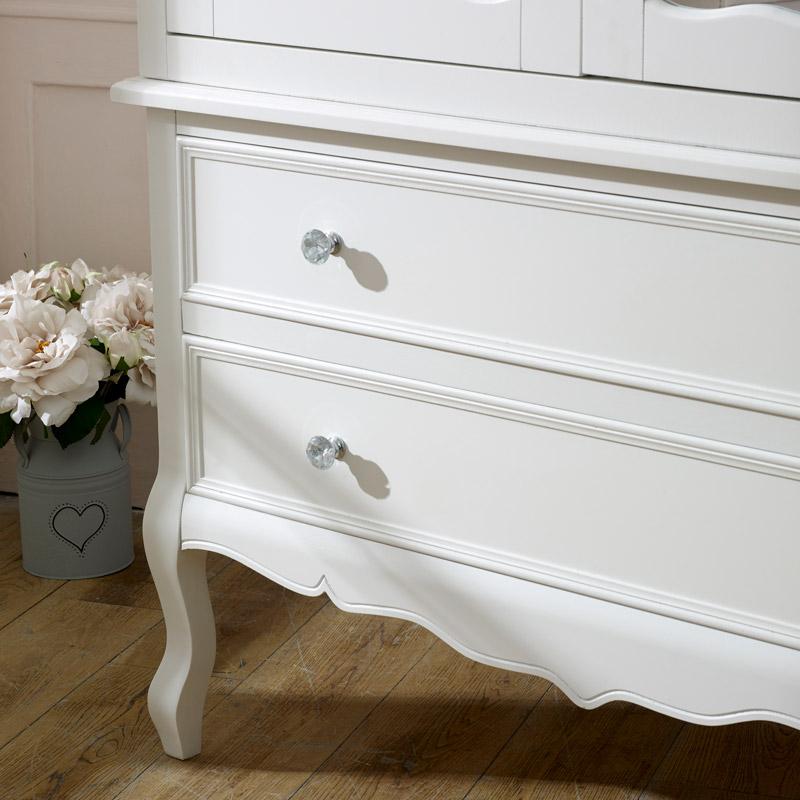 Large White Double Mirrored Wardrobe - Victoria Range ...