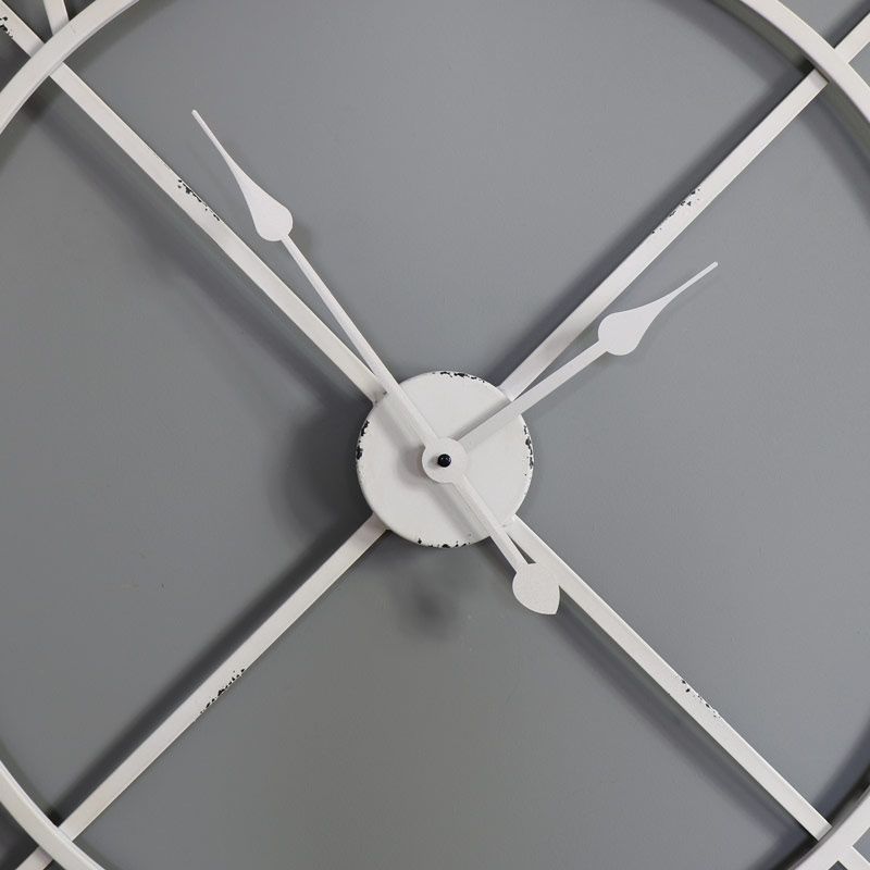 Large White Skeleton Wall Clock