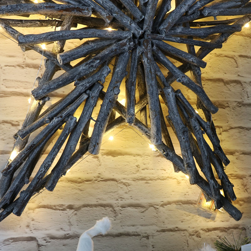 Large Wicker Christmas Star Wall Decoration