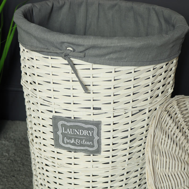 Large Willow Wicker Basket Laundry Hamper