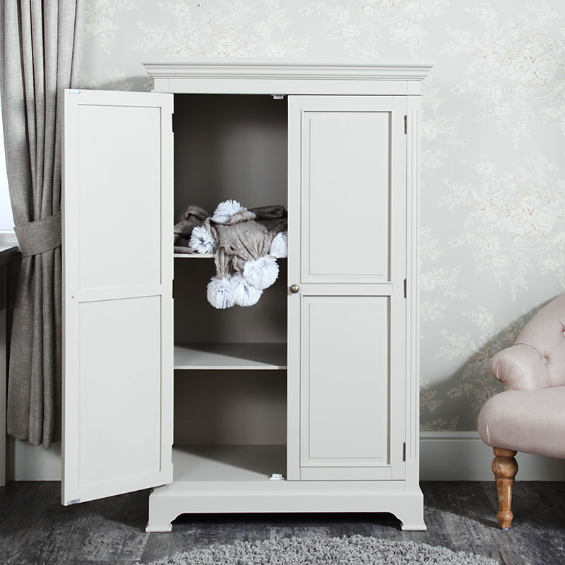 Grey Linen Closet Low Wardrobe Daventry Taupe Grey