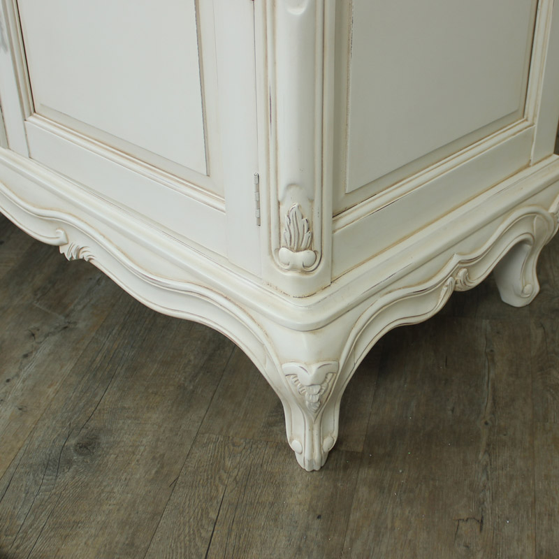Louis XV Range - Ivory Ornate TV Cabinet