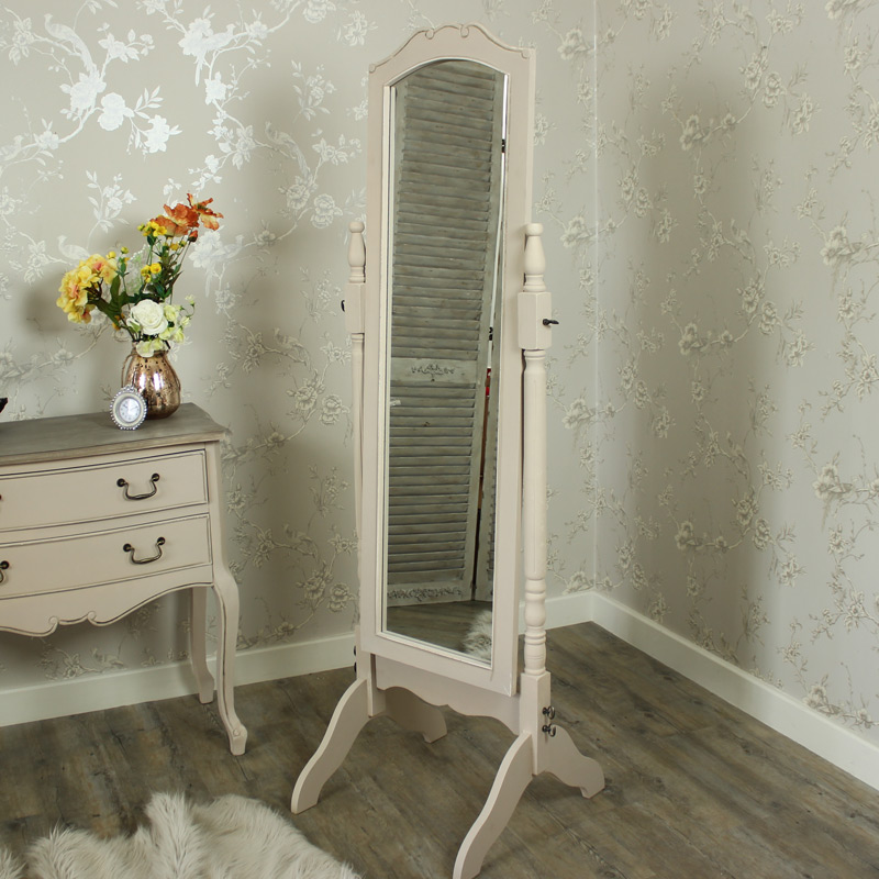100 shabby chic floor mirror lighting attractive for Maison chic shabby chic