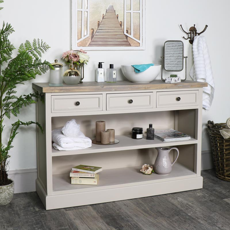 Low Bookcase with Drawers - Cotswold Range