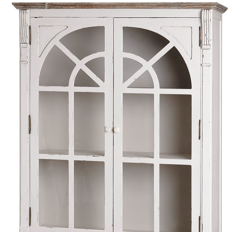 Antique White Glazed Kitchen Cabinets: Antique White Kitchen Display Glazed Cabinet