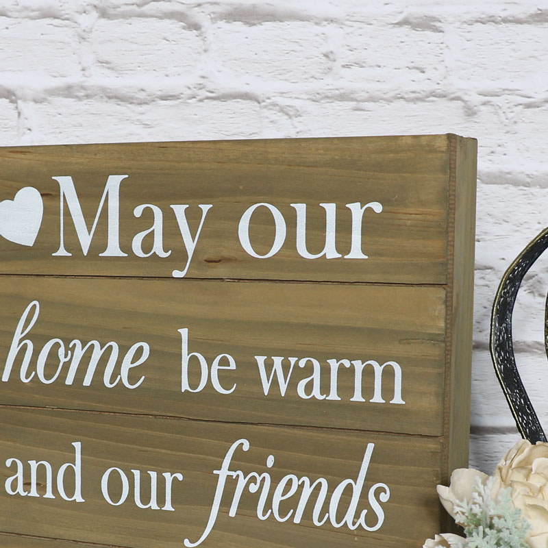 May Our Home Be Warm Wooden Plaque Melody Maison 174