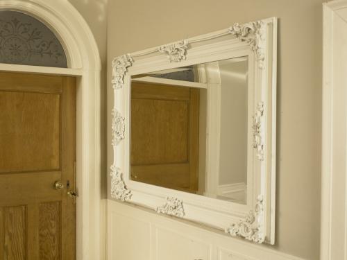 Large ivory ornate framed mirror bathroom kitchen wall - Large bathroom wall mirror ...