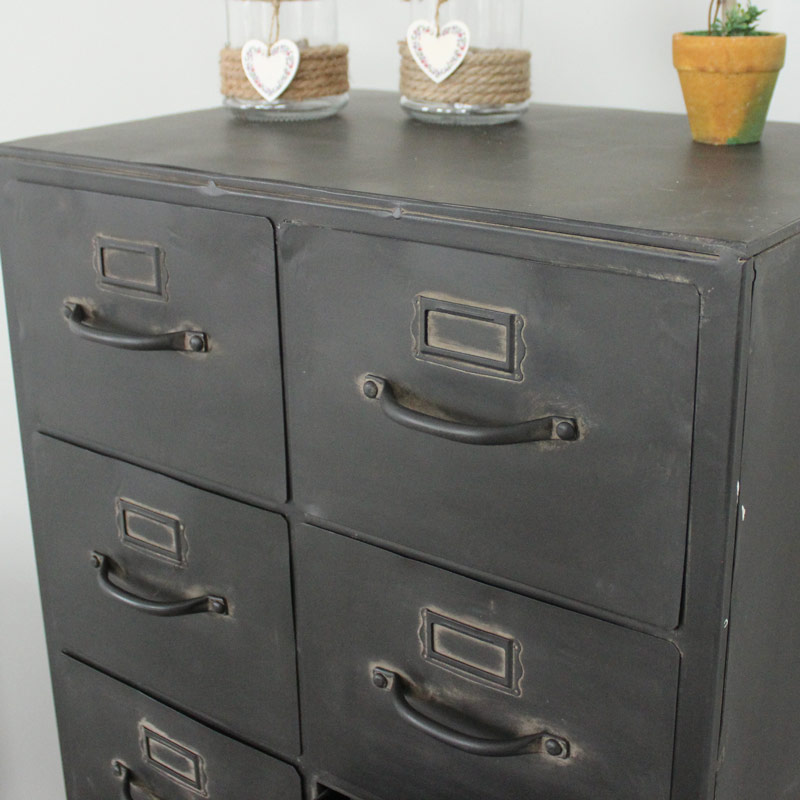 Metal 12 Drawer Storage Cabinet Melody Maison 174
