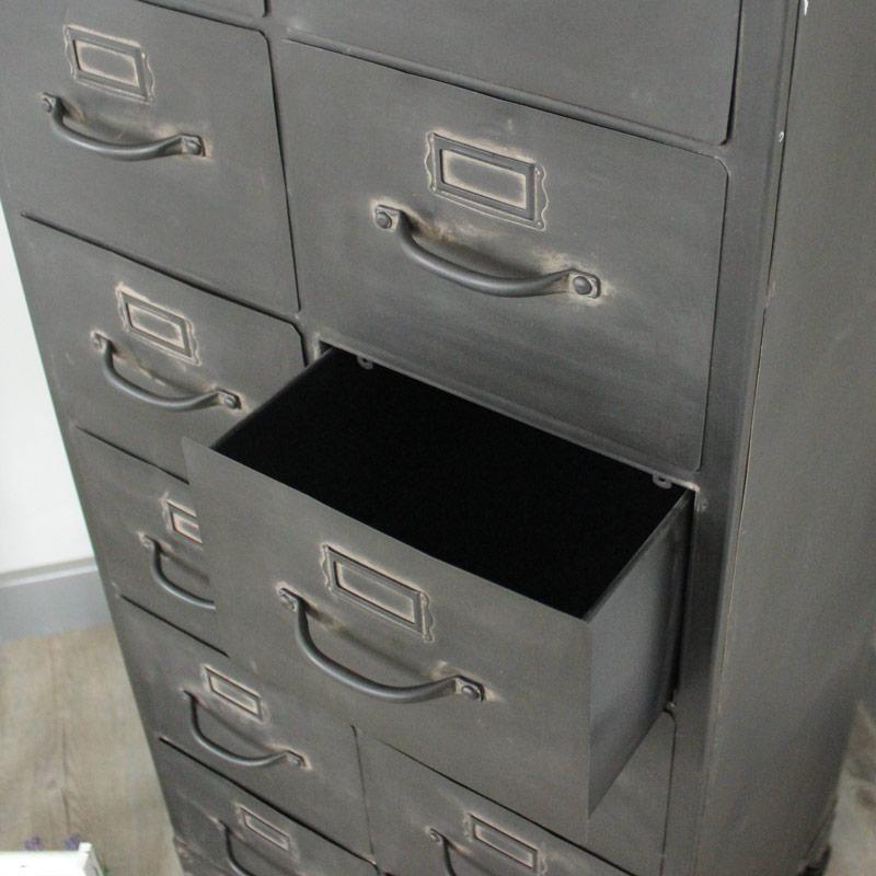 Metal 12 Drawer Storage Cabinet