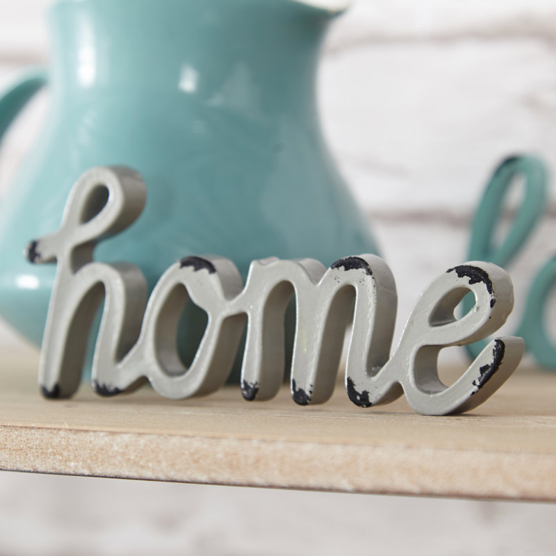 Metal Freestanding 'Home' Letters Paperweight