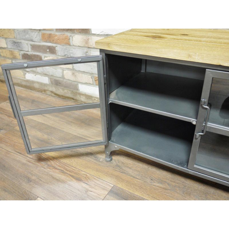 tv cabinet metal industrial style tv cabinet melody maison 174 27339