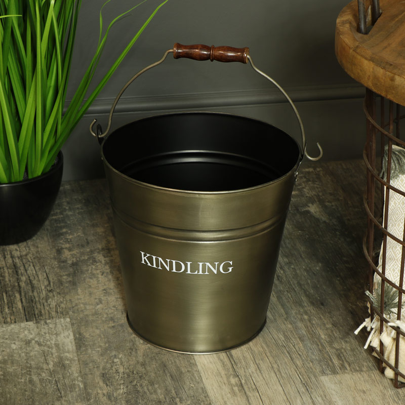 Metal Kindling Bucket