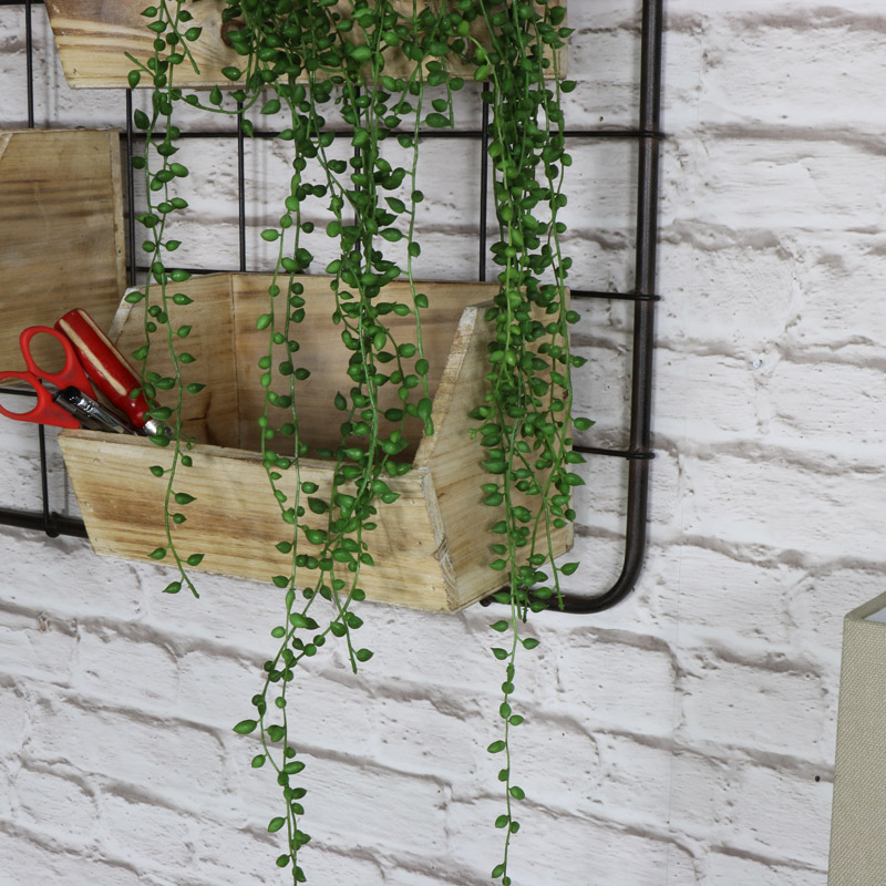 Metal Wall Frame With 4 Hanging Boxes