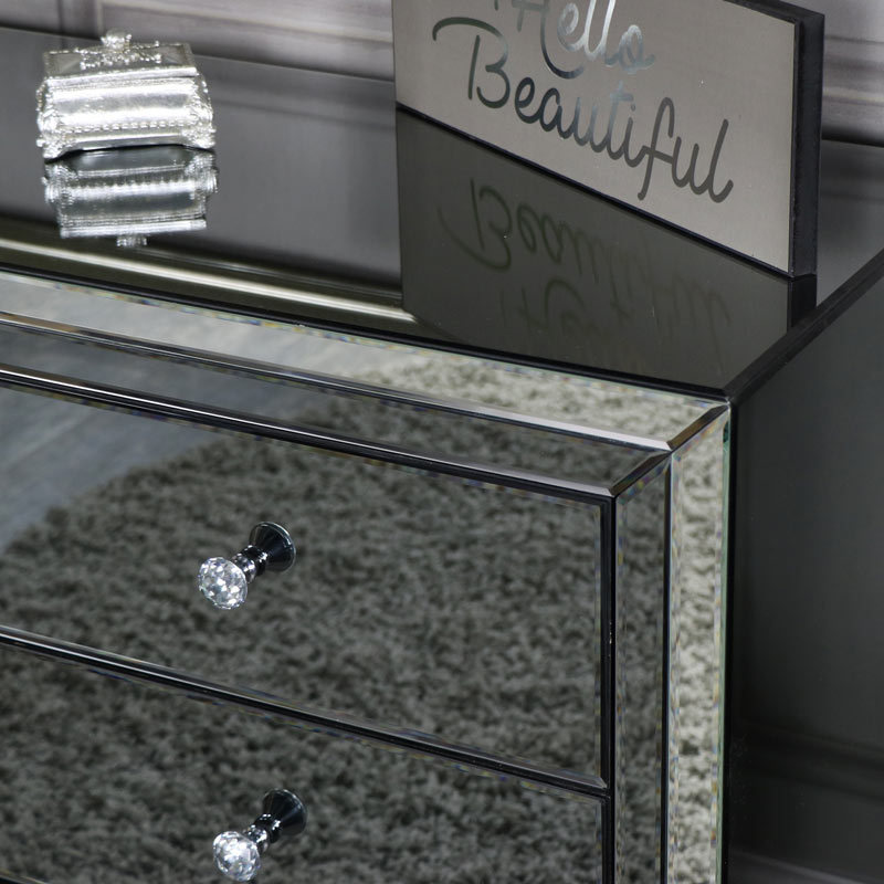 Mirrored Chest of Drawers - Verona Range
