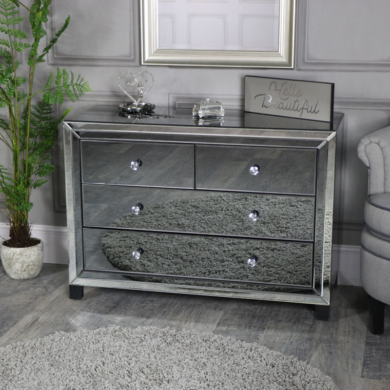 of mirrored chest drawer traditional drawers