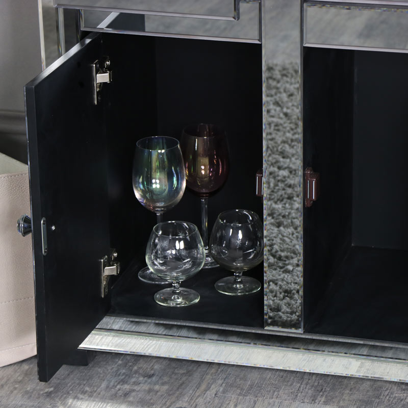 Mirrored Sideboard Storage Cabinet - Verona Range