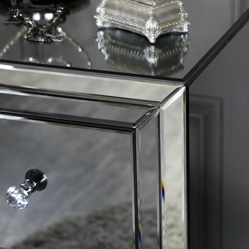 Mirrored Tallboy Chest of Drawers - Verona Range