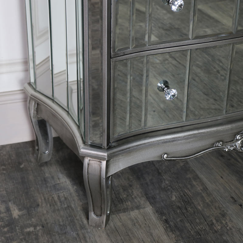 Mirrored Television Cabinet - Tiffany Range