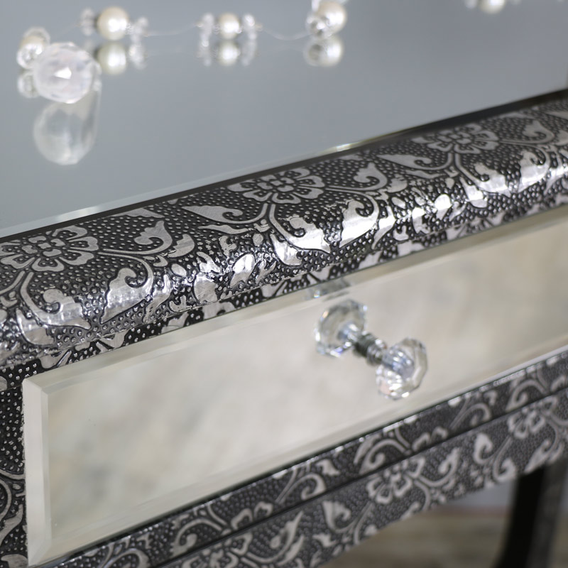 Monique Range - Silver Mirrored Dressing Table