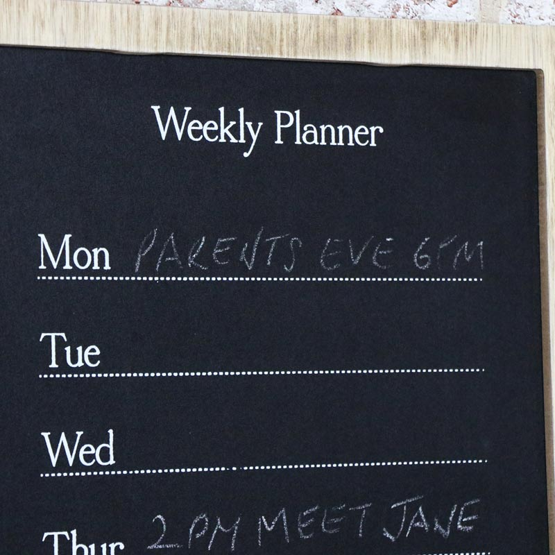 Multi Purpose Weekly Planner with Blackboard