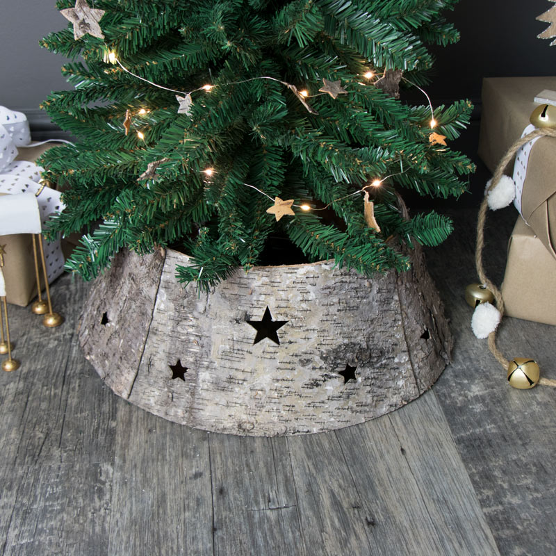 Natural Birchwood Christmas Tree Skirt