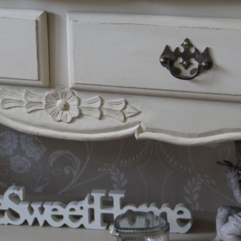 Normandy Range - Cream Console Display Table with Two Drawers