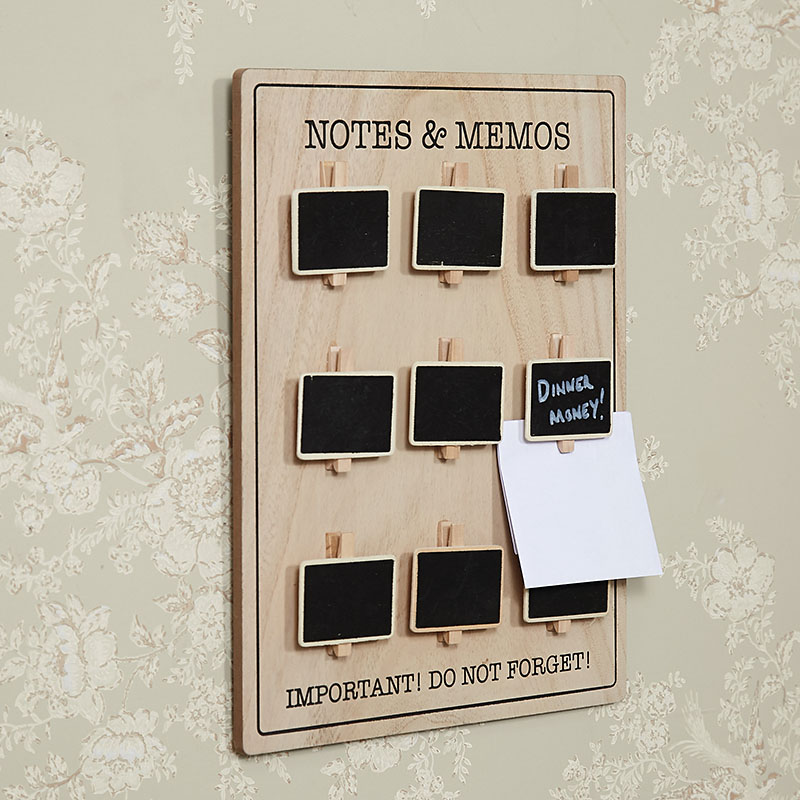 'Notes & Memos' Wall Mounted Chalkboard