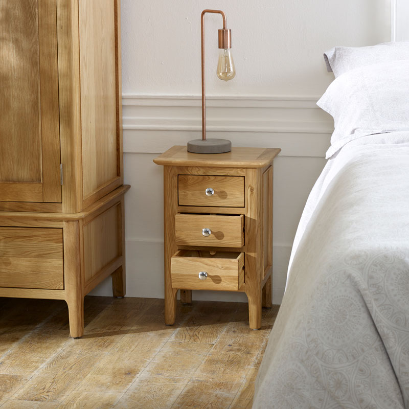 Oak Wood Bedside Table - Oakley Range