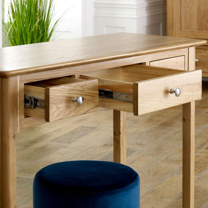 Oak Wood Console / Dressing Table - Oakley Range