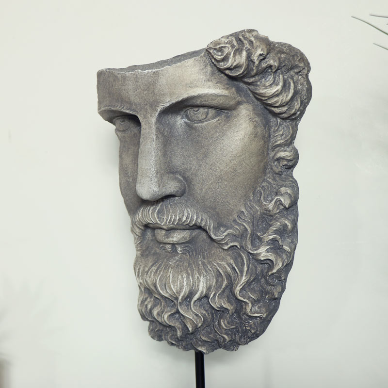 Ornamental Grey Bust on Stand