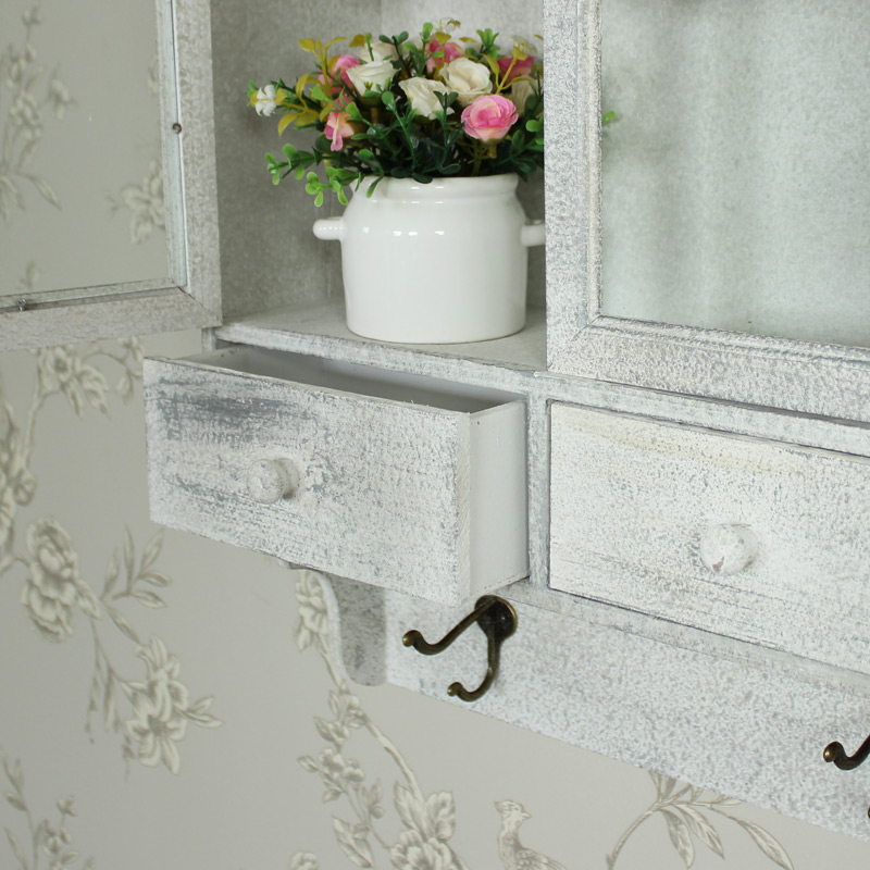 bathroom cabinets shabby chic ornate wall mounted shelving unit shabby chic 15658