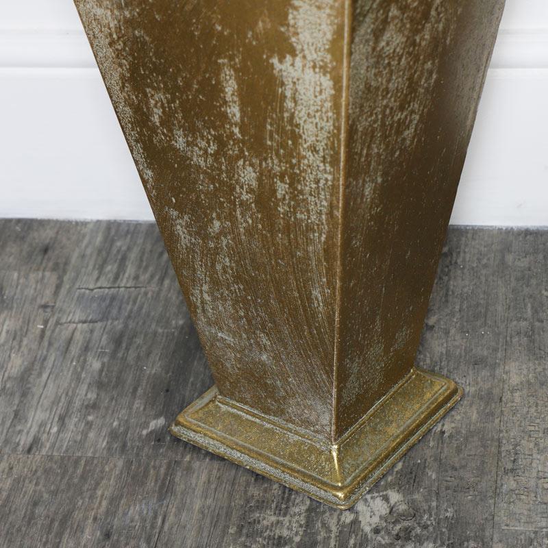 Ornate Gold Metal Umbrella Holder