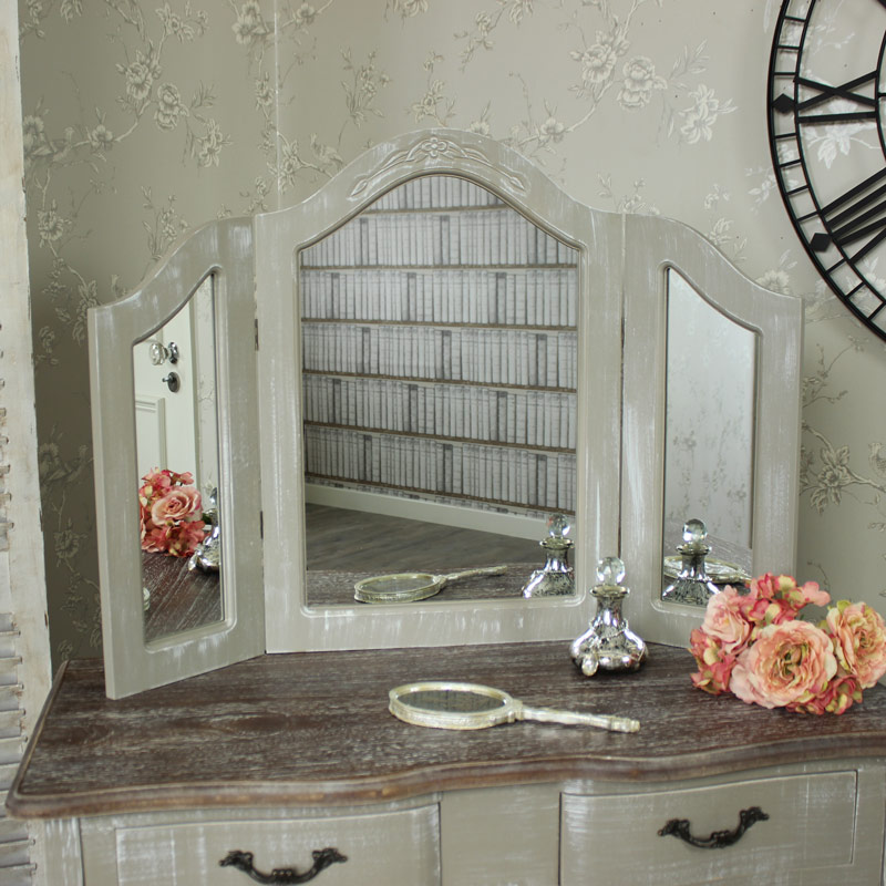 triple mirror french grey range melody maison