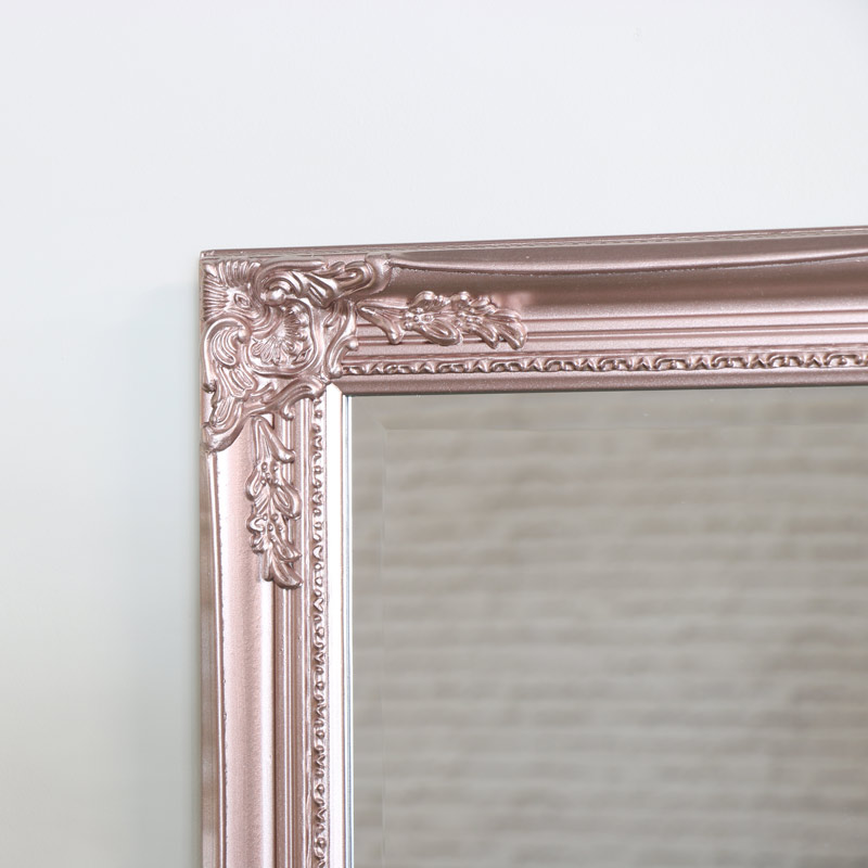 Ornate Rose Gold Pink Mirror 62cm x 82cm