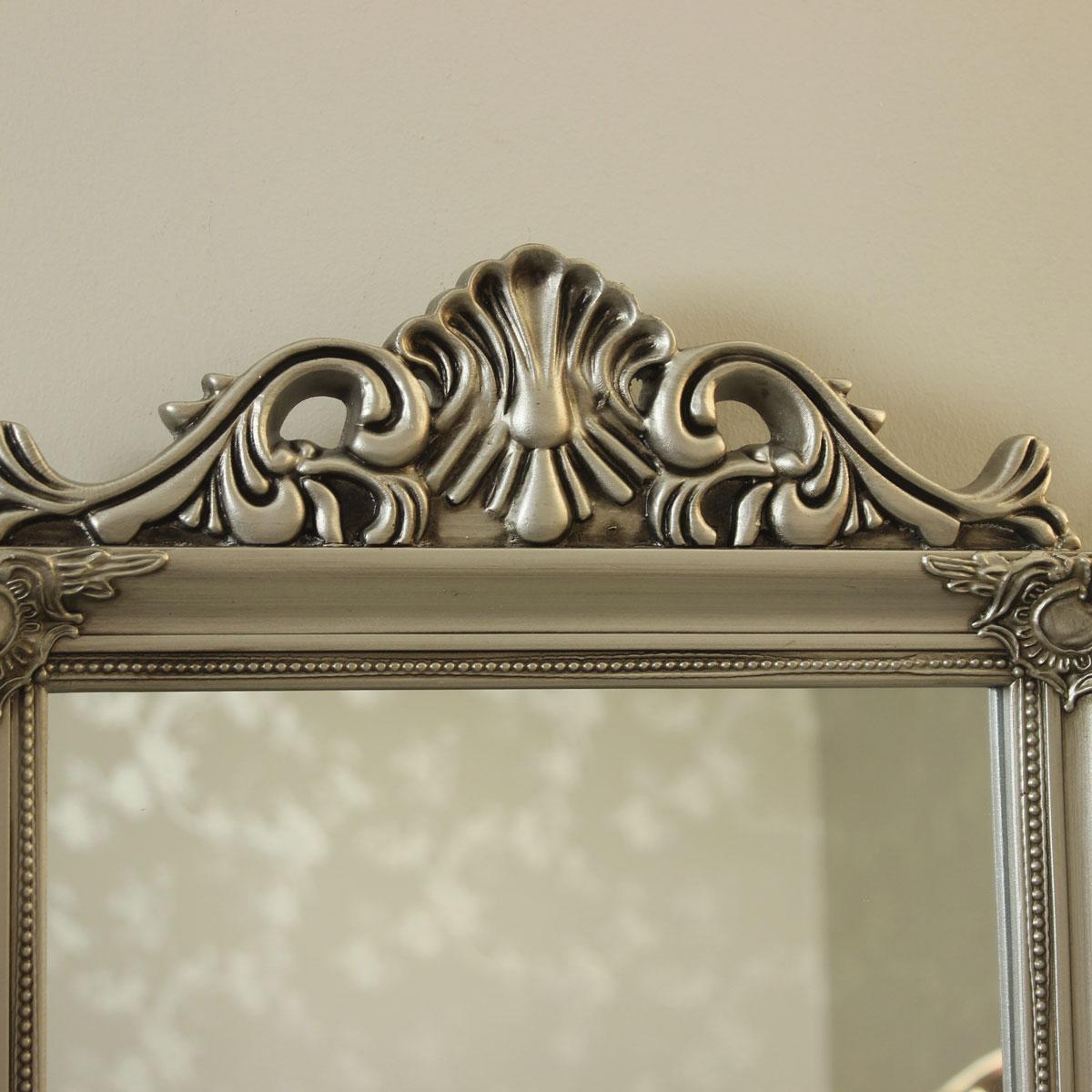 Argent Résine Décoration coiffeuse Triple Miroir Shabby Français Chic Chambre Maison