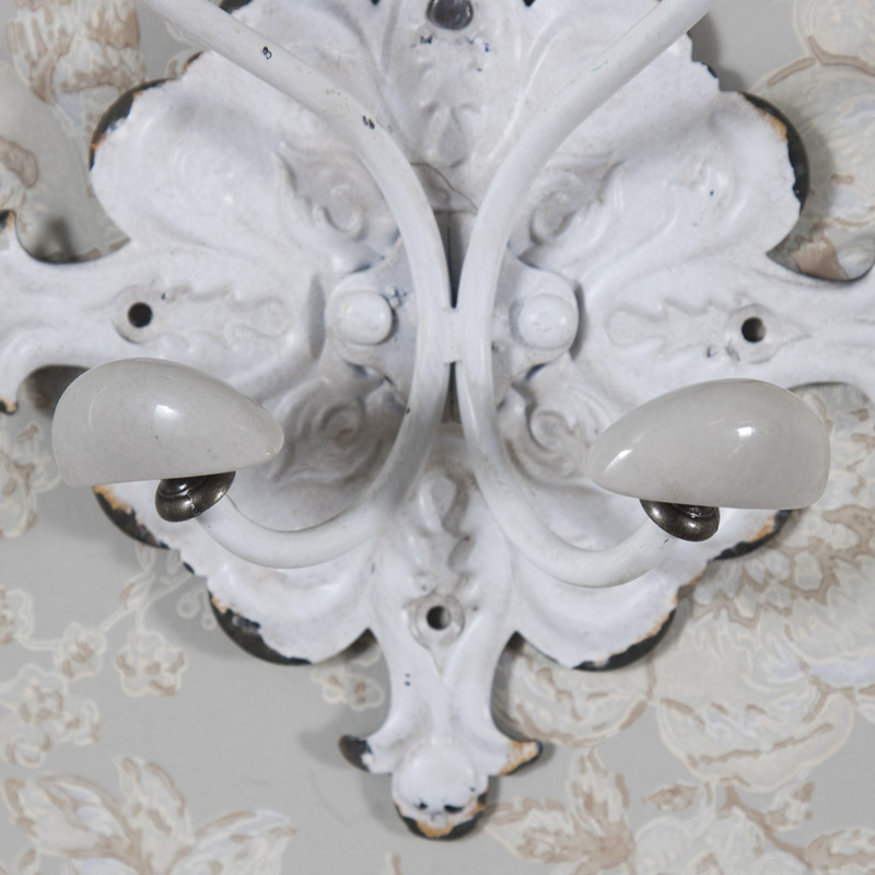 Ornate White Wall Mounted Coat Hook