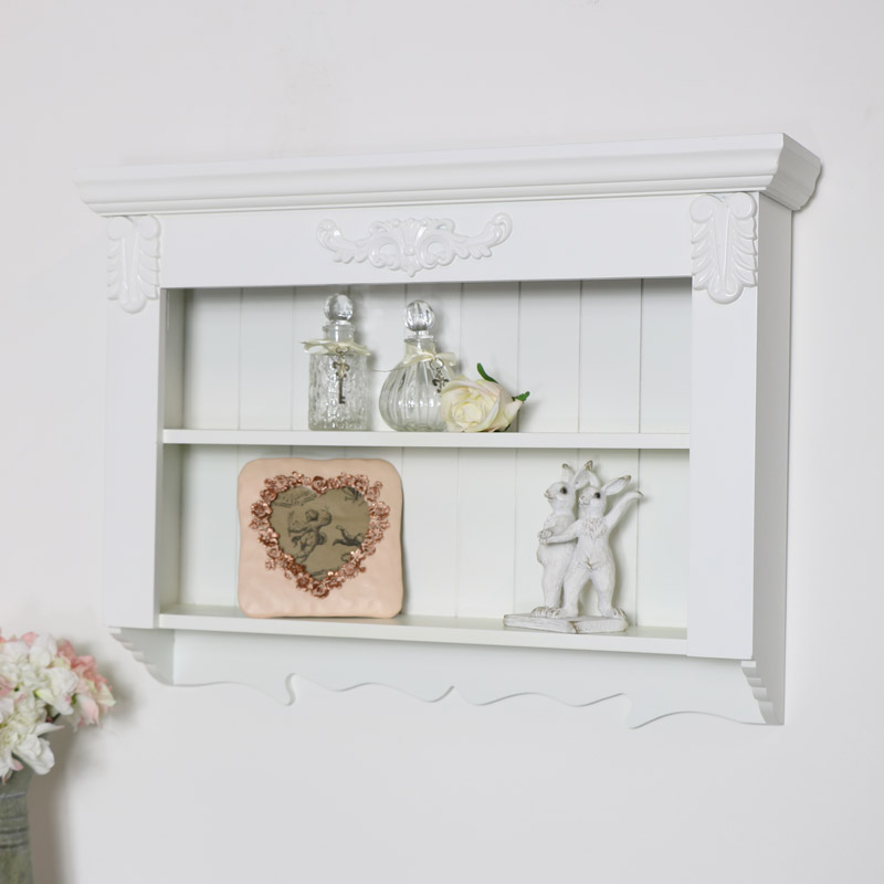 Ornate White Wall Shelf