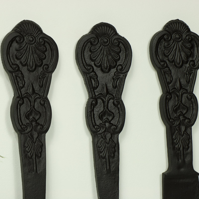 Oversized Black Cutlery Set Wall Decor