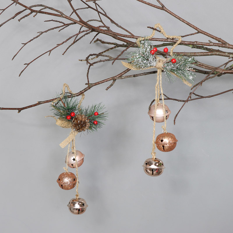 Pair of Copper Bells Hanging Decoration