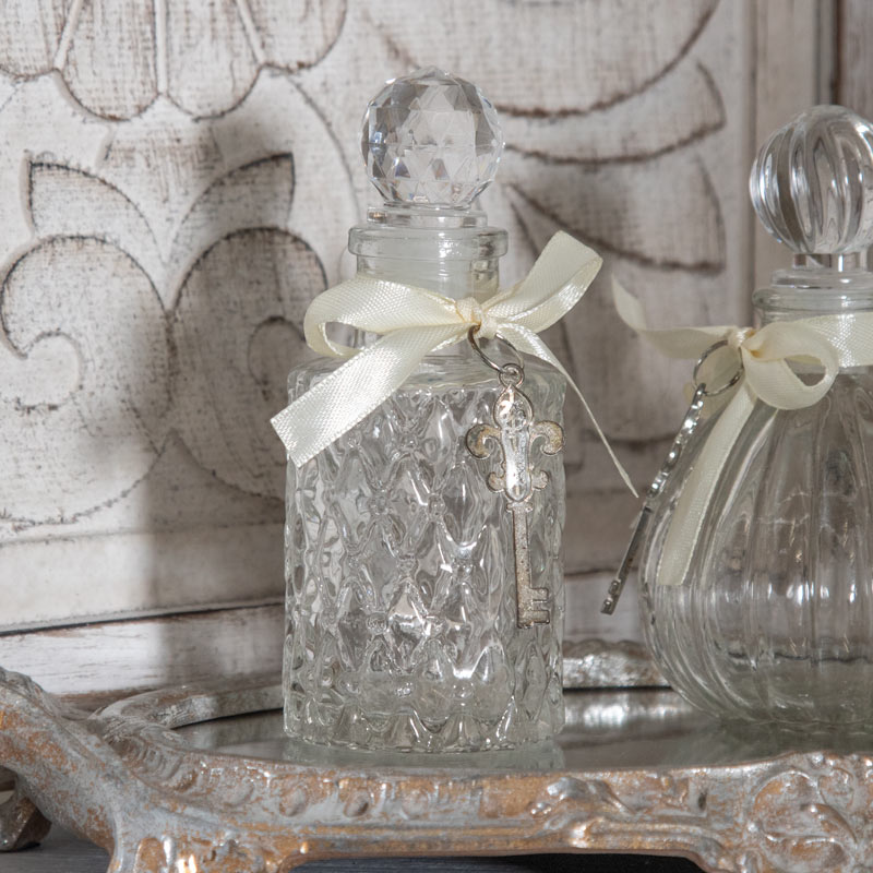 Pair of Decorative Glass Perfume Bottles