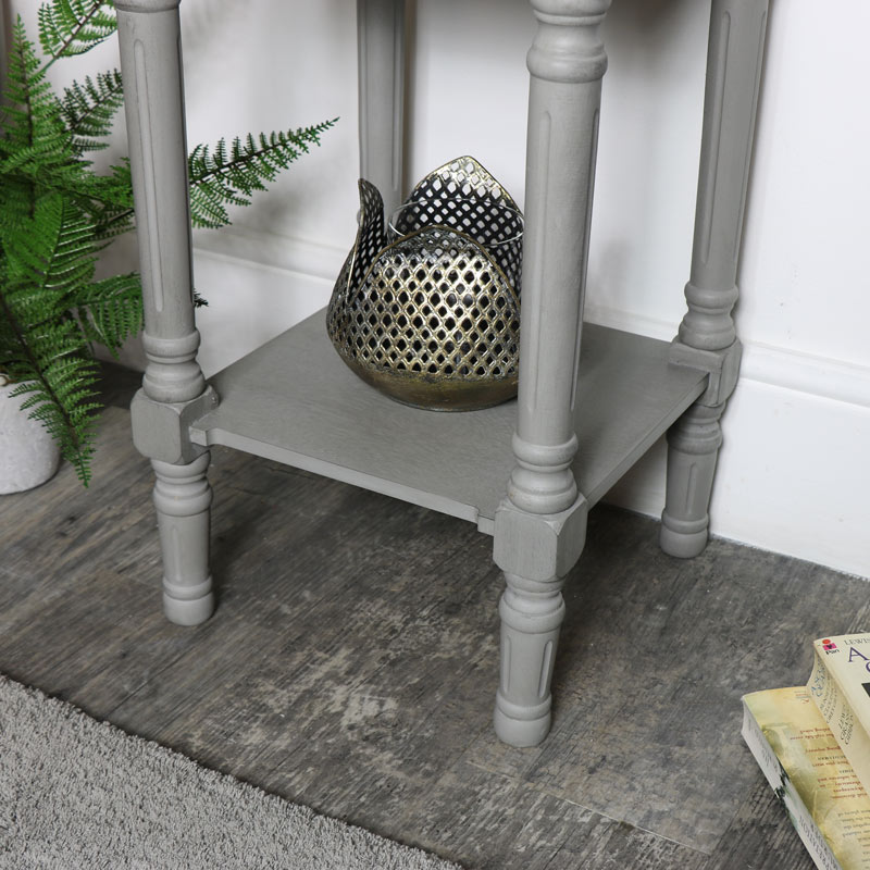 Pair of Grey Bedside / Occasional Tables - Venice Range