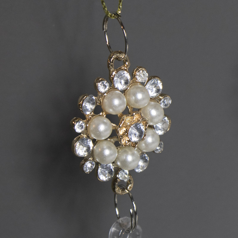 Pair of Silver Jewelled Christmas Tree Droppers