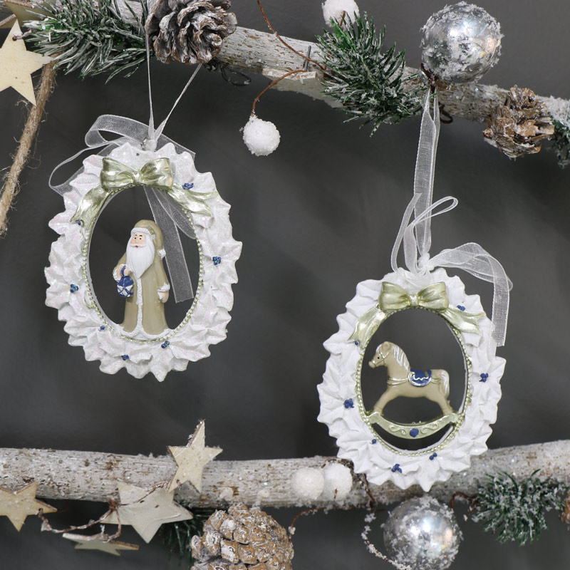 Pair of Traditional Christmas Ornaments