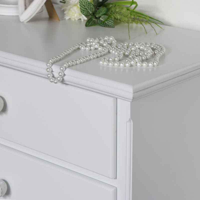 Details about Pair of ornate white wooden chest of drawers vintage French  bedroom furniture