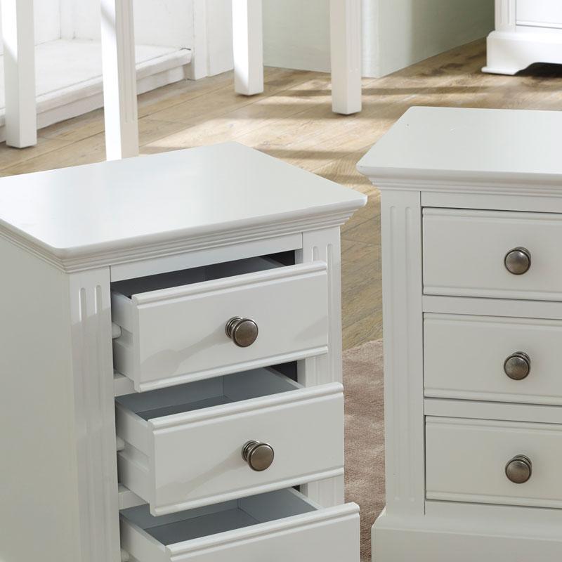 Pair of White Bedside Tables - Davenport White Range