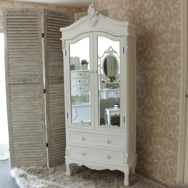 Vintage White Bedroom Furniture Set Pays Blanc Range