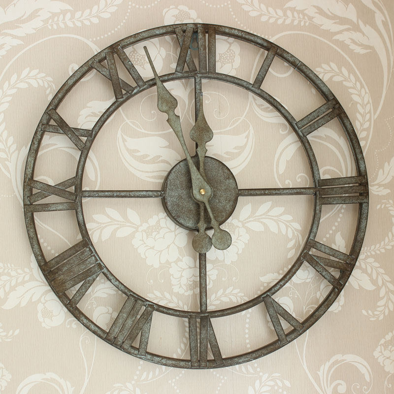 Petite Zinc Skeleton Wall Clock Melody Maison 174