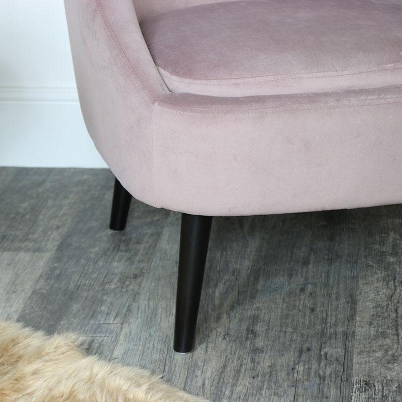 Pink Velvet Boudoir Chair Melody Maison 174