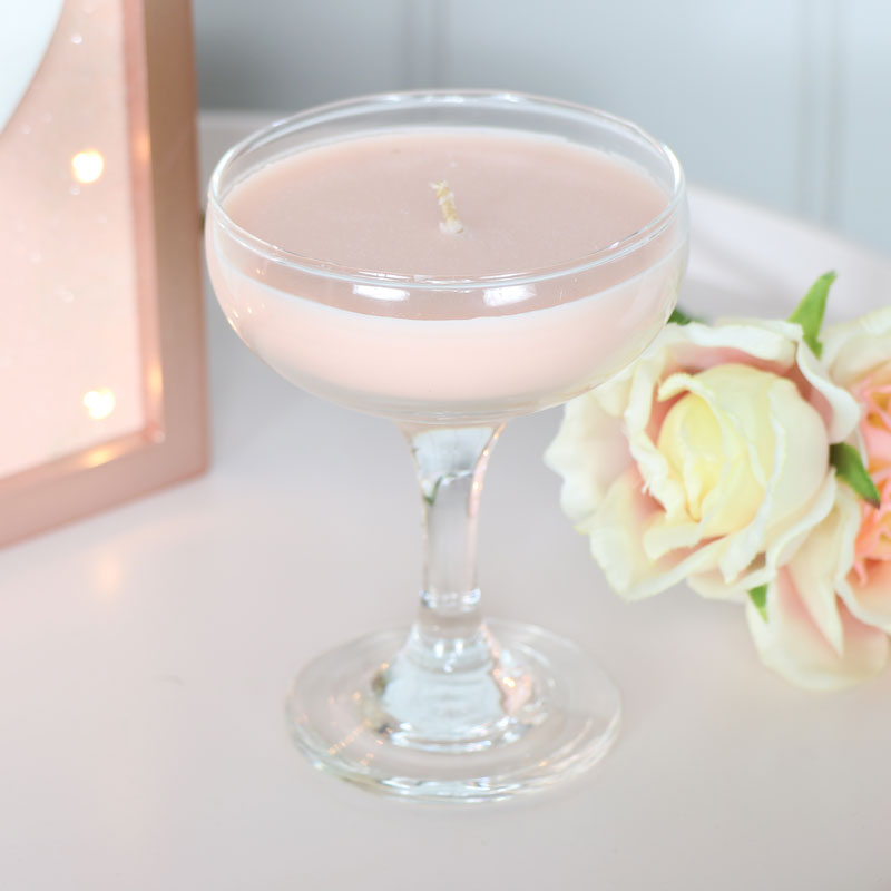 Pink Fizz Scented Cocktail Candle