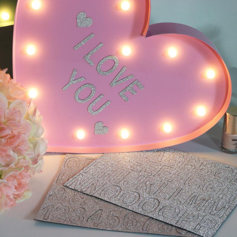 Pink LED Magnetic Memo / Notice Board